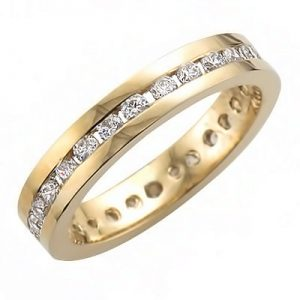 image of 33-514 WEDDING BANDS_FULL ETERNITY RING CHANNEL SET WITH TOTAL WEIGHT OF ONE CARAT_RM-358 5.58g in 14kt 3.85mm wide 2mm stones
