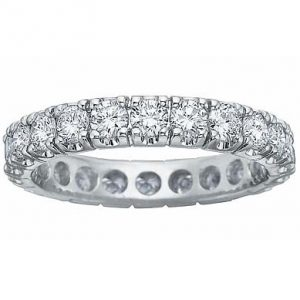 image of 33-518 WEDDING RING_DIAMOND SET RING IDEAL FOR ANNIVERSARY OR AS BAND