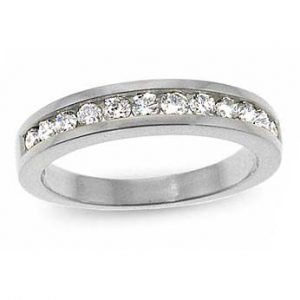 image of 33-523 WEDDING RING_DIAMOND SET RING IDEAL FOR ANNIVERSARY OR AS BAND_21-HG3382