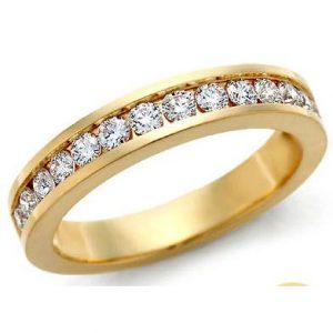 image of 33-526 WEDDING RING_DIAMOND SET RING IDEAL FOR ANNIVERSARY OR AS BAND_33-788