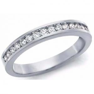 image of 33-527 WEDDING RING_DIAMOND SET RING IDEAL FOR ANNIVERSARY OR AS BAND_33-788W