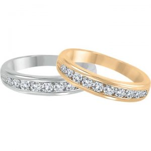 image of 33-530 WEDDING RING_DIAMOND SET RING IDEAL FOR ANNIVERSARY OR AS BAND