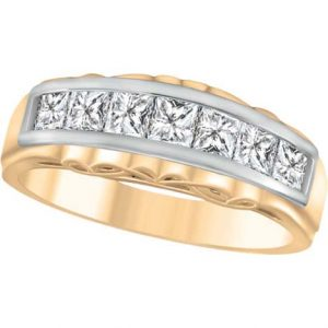 image of 33-531 WEDDING RING_DIAMOND SET RING IDEAL FOR ANNIVERSARY OR AS BAND