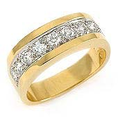 IMAGE OF 33-532 WEDDING RING_DIAMOND SET RING IDEAL FOR ANNIVERSARY OR AS BAND