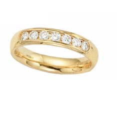 image of 33-533 WEDDING RING_0.33 CARAT DIAMOND SET HALF ETERNITY RING IDEAL FOR ANNIVERSARY OR AS BAND