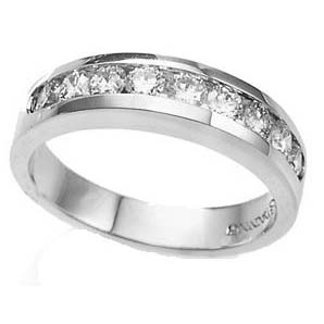 IMAGE OF 33-535 WEDDING RING_0.75 CARAT DIAMOND SET RING IDEAL FOR ANNIVERSARY OR AS BAND