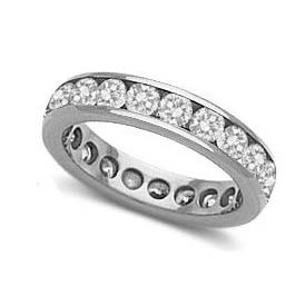 IMAGE OF 33-538 WEDDING RING_ONE CARAT DIAMOND SET RING IDEAL FOR ANNIVERSARY OR AS BAND