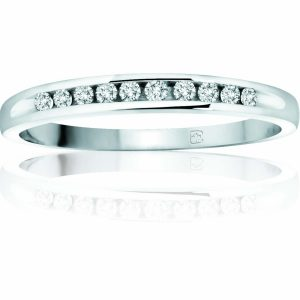 image of 33-546 WEDDING RING_DIAMOND SET RING IDEAL FOR ANNIVERSARY OR AS BAND