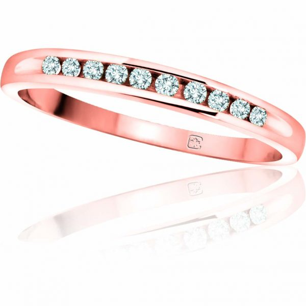 image of 33-546A WEDDING RING_DIAMOND SET RING IDEAL FOR ANNIVERSARY OR AS BAND