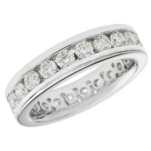 image of 33-549 WEDDING RING_DIAMOND SET RING IDEAL FOR ANNIVERSARY OR AS BAND