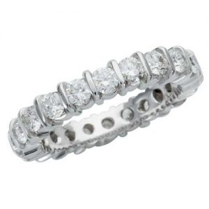 image of 33-550 WEDDING RING_DIAMOND SET RING IDEAL FOR ANNIVERSARY OR AS BAND