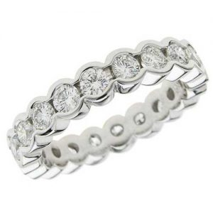 image of 33-551 WEDDING RING_DIAMOND SET RING IDEAL FOR ANNIVERSARY OR AS BAND