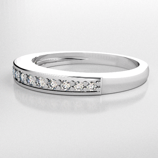 image of 33-553B WEDDING RING_DIAMOND SET RING IDEAL FOR ANNIVERSARY OR AS BAND