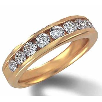 image of 33-557 WEDDING RING_HALF CARAT CHANNEL SET RING IDEAL FOR ANNIVERSARY OR AS BAND