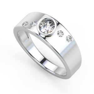 image of 33-559 WEDDING RING_UNIQUE FASHION STYLE BAND