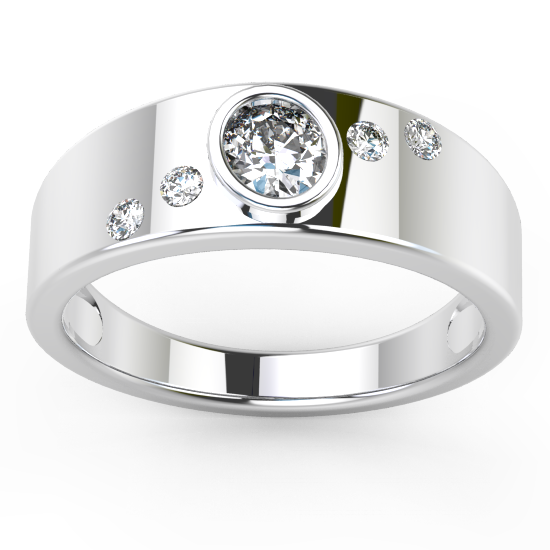 image of 33-559A WEDDING RING_UNIQUE FASHION STYLE BAND