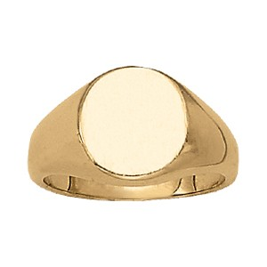image of 40-100 Signet ring_Oval design high polished