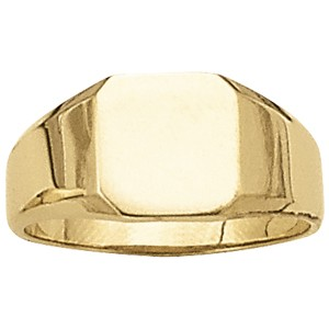 image of 40-102 Signet ring_Octagon design high polished