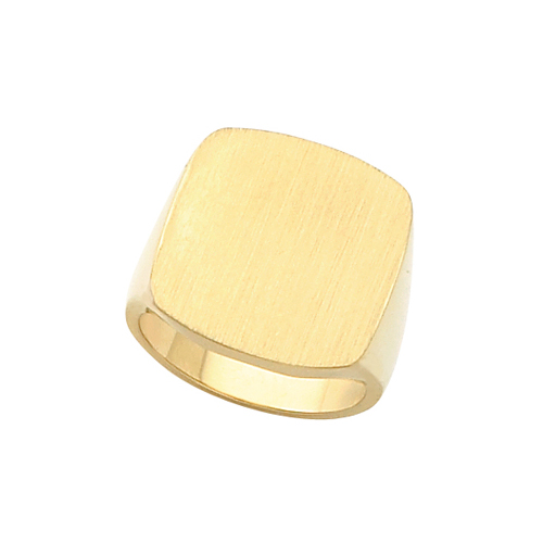 image of 40-1021 Signet ring_Mans large Antique style top- ideal for any engraving
