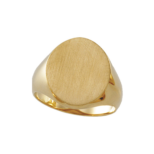 image of 40-1024 Signet ring_Mens Solid Back oval top 18mm tall 16mm wide