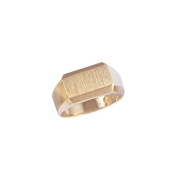 image of 40-103Y Signet ring_Mans style satin finish top