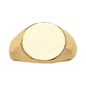 image of 40-104 Signet ring_Large round style high polished