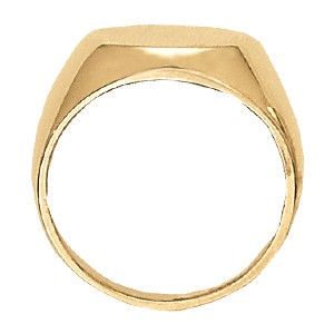 image of 40-104A Signet ring_Large round style high polished