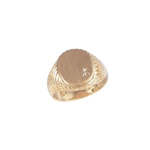 40-1107 Signet ring_Mans oval style