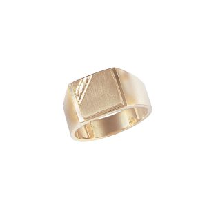 image of 40-118 Signet ring_Mans signet with diamond cut corner corner cushion style top