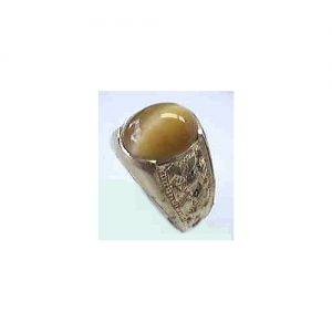 40-130TE Men's Unique styleHoney tiger eye stone ring