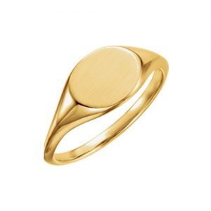 image of 40-802 Signet ring_Ladies oval style