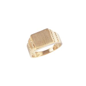 image of 40-G032 Signet ring_Square design- high polished