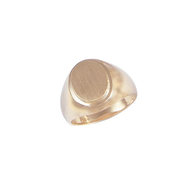 40-G055Y Signet ring_Mans style oval design yellow gold