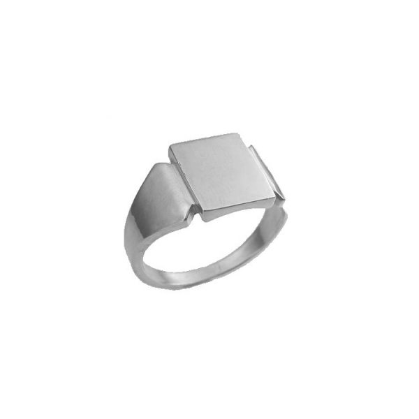 image of 40-G307W Signet ring_Mans Solid Back ring