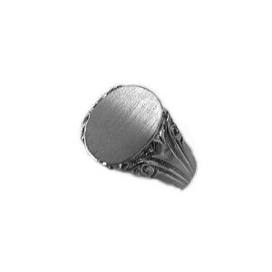 image of 40-G648 Signet ring_Mans Solid Back with side design