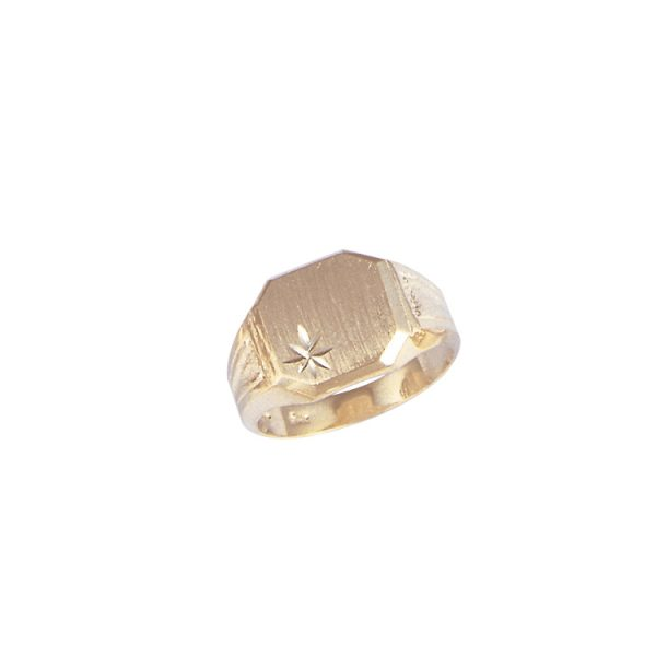 image of 40-G819 Signet ring_Mans large Octagon style top- ideal for one initial engraving
