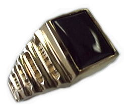 image of 40-GB545 Men stone rings_Black onyx bezel set