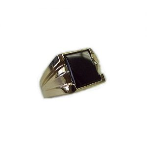 40-GB620 Men stone rings_Black onyx bezel set