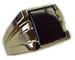 image of 40-GB620 Men stone rings_Black onyx bezel set