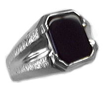 image of 40-GB651W Men stone rings_Black onyx bezel set