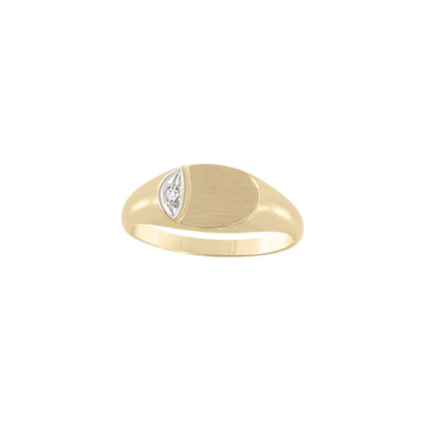 image of 40-GL252 Signet Ring_With accent diamond for younger ladies