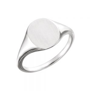 image of 40-GM101 Signet ring_Young mans style white gold