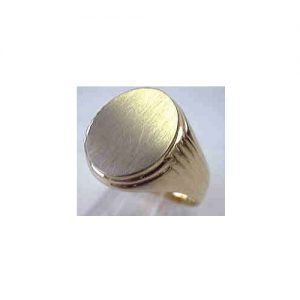 image of 40-GS620 Signet ring_Mans large oval top with side design