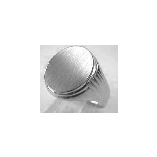 image of 40-GS620W Signet ring_Mans large oval top with side design