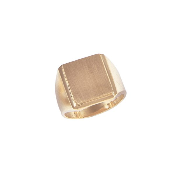 image of 40-N6128 Signet ring_Mens large Rectangular style top- ideal for any engraving