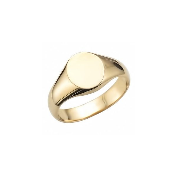 image of 40-RM253 SIGNET RINGS_YELLOW OR WHITE GOLD OVAL STYLE_ 3.35g in 14kt 7.25mm wide
