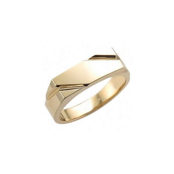 image of 40-RM258 SIGNET RINGS_YELLOW OR WHITE GOLD RECTALGULARE STYLE_ 6.33g in 14kt 6mm wide hollow under