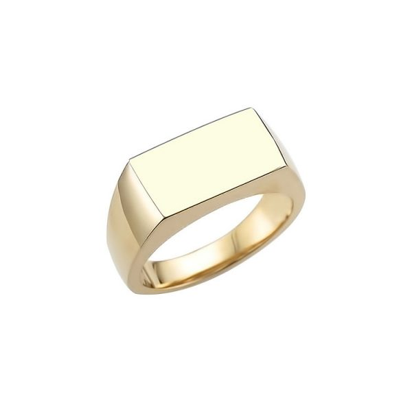 image of 40-RM259 SIGNET RINGS_YELLOW OR WHITE GOLD RECTALGULARE STYLE_ 6.21g in 14kt 5.65mm wide hollow under