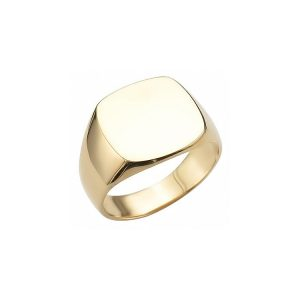 iimage of 40-RM262 SIGNET RINGS_YELLOW OR WHITE GOLD CUSHION STYLE_ 6.14g in 14kt 8.8mm wide solid under