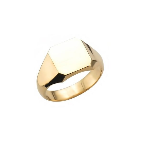 image of 40-RM271 SIGNET RINGS_YELLOW OR WHITE GOLD RECTALGULARE STYLE_ 6.52g in 14kt 8.9mm wide solid under